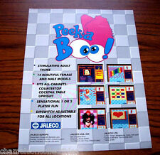 PEEK A BOO By JALECO 1990s ORIGINAL NOS VIDEO ARCADE GAME MACHINE FLYER BROCHURE