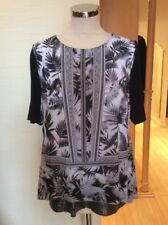 Betty Barclay Top Size 10 BNWT Black White Grey RRP £55 Now £25