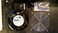"""Cooltron FA1225B11T3-61 120mm Controllable Fan Kit w/ 75"""" AC Adapter & Fan Guard"""