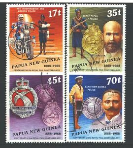 PAPUA NEW GUINEA 691-94 SG571-74 Used 1988 Police Force set of 4 Cat$4