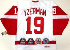 STEVE YZERMAN DETROIT RED WINGS STANLEY CUP HALL OF FAME PATCH CCM JERSEY