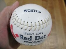 Worth Red Dot Softball White Poly X Solid Core Coca Cola Coke