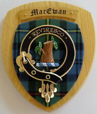 NOS Scottish Clan MacEWAN Oak Tartan Plaque Crest Shield