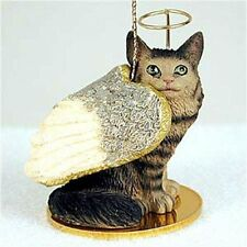 Maine Coon Brown ANGEL CAT Tiny One Ornament Figurine Statue