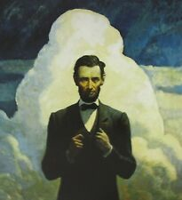 Vintage Art N C Wyeth Abraham Lincoln Study Lincoln's Second Inaugural Address