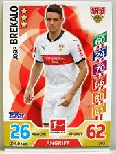 Match Attax 2017/18 Bundesliga - #303 Josip Brekalo - VfB Stuttgart