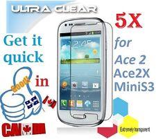 5X HD clear screen protector Samsung Galaxy MiniS3 Mini S3 & ACE 2X GT-S7560M