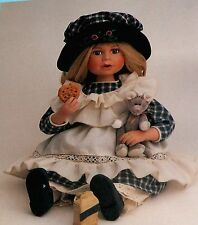 Boyds Yesterday's Child, Leslie Nibbles #4818, NIB, cookies & milk, 12 in.