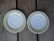 Vintage Country Day Stoneware Saucers Set of 2 Impressions Daniele EUC