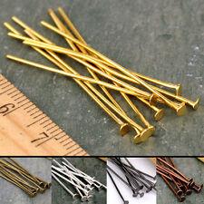 100 PCS Eye Pin Flat Head Pin Ball Pin Finding 20mm 30mm 40mm 50mm 60mm silver