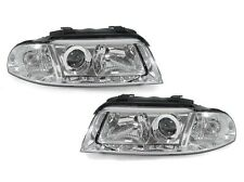 E-Code DEPO 99 00 01 AUDI A4 / 00-02 S4 B5 Chrome Projector Headlight Set E Mark