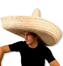 Giant Jumbo Sombrero Hat Zapata Straw Spanish Mexican Adult Costume Accessory