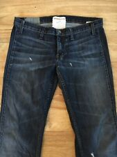 Elizabeth & James Textile JIMI Dark Wash Distressed Flare Leg Jeans Size 32 READ