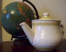 Franciscan Earthenware Hacienda Gold Tea Pot & Lid Vintage Made in USA 60's 70's