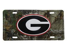 "Georgia Bulldogs Bulldog Camo Camouflage 6""x12"" Aluminum License Plate Tag"