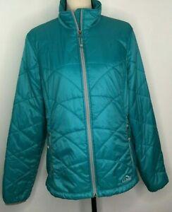 LL Bean Women's Primaloft Puffer Jacket Coat Teal Size Medium