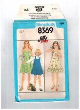 """Simplicity Jiffy 8369 Sundress Pattern Girls Size 10 Chest 28"""" Uncut FF"""