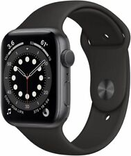 Apple Watch Series 6 44mm GPS Space Gray Aluminum Case Black Sport Band
