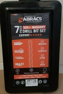 Abracs 7 Piece SDS + Masonry Drill Bit Set