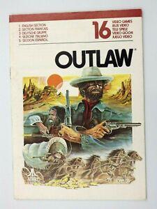 Manual Only Atari 2600 Outlaw 16 Booklet Manual UK Fr Of It Bulbs Es