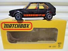 Matchbox Superfast Japan Issue J-5 /MB7C Black VW Volkswagen GOLF New in C9 Box