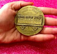 1837 Paris A Brief History of French Railways bronze Art medal