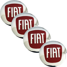4 PCS Wheel Center Hub Caps Emblem SPORTS Badge Decals Stickers For FIAT S281