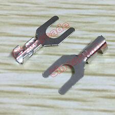 100pcs Arcade Fork Wire Spade Terminals Quick Connectors Cable Crimp Terminals