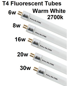 T4 fluorescent Tubes 8w-16w-20w 25w-30w under cabinet Flourescent Lamps 2700k
