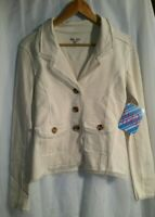 Lucy Love Women's Ivory Knit Casual Style Jacket Size Small New with Tags