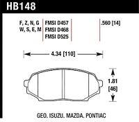Hawk Performance HB148F.560 Virtually Noise-Free Disc Brake Pads