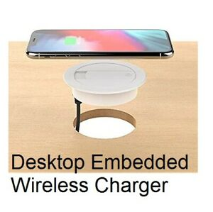QI Wireless Charger Charging Pad Embedded Office Desk charger Smartphone iPhone