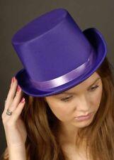 Victorian Purple Satin Top Hat