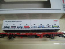 Marklin H0 94339 DB 15 Years Insider Flat Car with 2 Containers - NIB