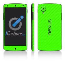 Nexus 5 Green Carbon Fibre Skins - Carbon Fiber skins from iCarbons