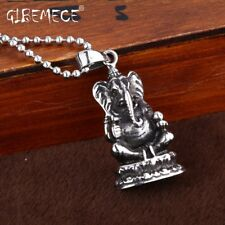 Charm For Girl Boy Titanium Stainless Vintage Cool Elephant Necklace Pendant