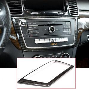 Carbon Fiber Central Control Panel Cover For Mercedes Benz GL GLE GLS ML 2013-19