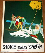 brochure film STORIE SULLA SABBIA Riccardo Fellini 1963 art Brini