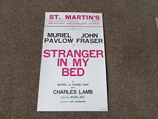 STRANGER in my BED inc Muriel Pavlov & John Fraser St MARTIN's Theatre Poster