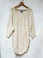 Oh! Baby Motherhood Maternity Tan Cotton Light Weight Knit Sweater Sz L