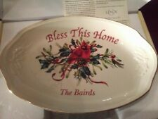 Monogrammed Lenox dish: Bless This Home / The Bairds