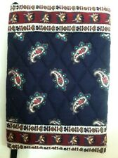 Vera Bradley Retired Rare Navy Paisley Book Cover