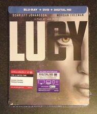 LUCY Blu-Ray SteelBook Target Exclusive Ltd Ed + DVD & Digital Copy New OOP Rare
