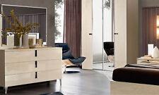 Schlafzimmer Kommode Sideboard Highboard Hochglanz Beige Moderne Möbel Italien