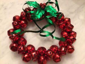 """Vtg. Jingle Bell Christmas Wreath 9"""""""