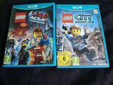 Nintendo wii u Lego City Undercover and lego the movie Games wii u