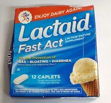 Lactaid Fast Act Lactase Enzyme Supplement, 12 Caplets