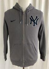 New York Yankees - NIKE - Gray Full-Zip Hoodie Hooded Sweatshirt - Men's Medium