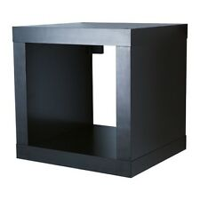 IKEA KALLAX Regal in schwarzbraun; (42x42cm) Cube Bücherregal Aufbewahrung
