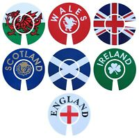ACCLAIM Self Adhesive Jumbo Bowls Stickers 6 cm England Ireland Scotland Wales
